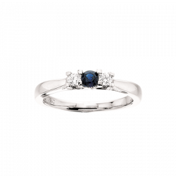 Zoya Ring 14 kt. Hvidguld 0,11 H-W/SI 0,24 Safir - 7526SA