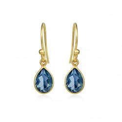 Ørehænger med London blå krystal - 5250-2-174