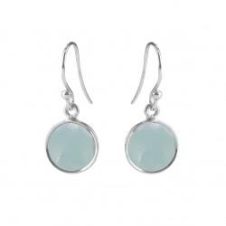 Ørehænger med lys blå krystal