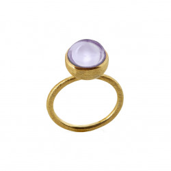 Ring i forgyldt sølv med lys ametyst - 10 mm - 1678-2-198