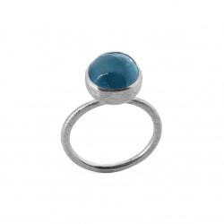 Ring i sølv med London blue krystal - 10 mm - 1678-1-174