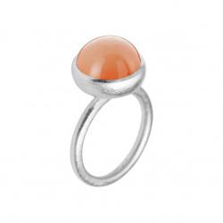 Ring i sølv med peach månesten - 12 mm - 1660-1-123