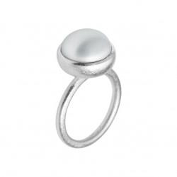 Ring i sølv med ferskvandsperle - 12 mm - 1660-1-900