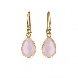 Ørehænger med faceteret lys pink krystal - 4068-2-112