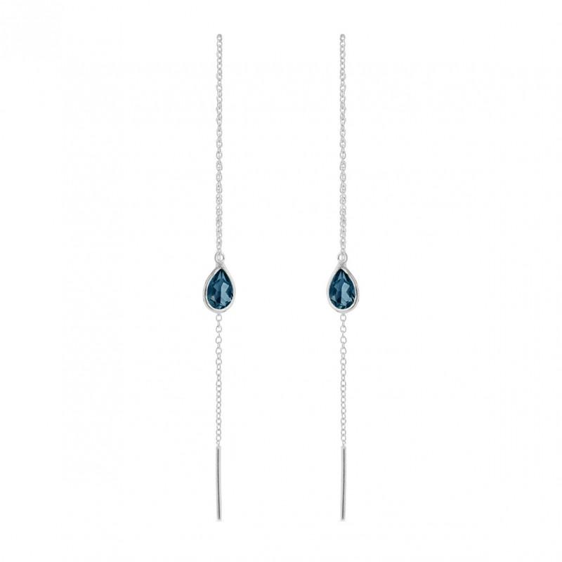 Balanceørering med London blue krystal - 5560-2-174