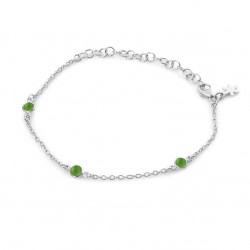 Armbånd med grøn agat - Armbånd med grøn agat