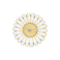 Marguerit broche i forgyldt sølv  1x43mm - 904043-M