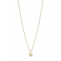 Marguerit kæde i forgyldt sølv med trådhjerte - 902249-M