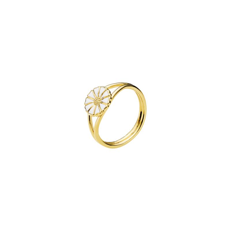 Marguerit ring i forgyldt sølv 9mm - 907009-M