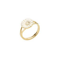Marguerit ring i forgyldt sølv 11mm -  907011-M