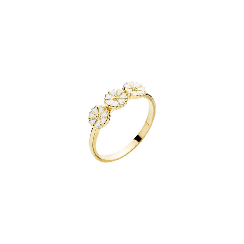 Marguerit ring i forgyldt sølv 3x5mm - 907050-3-M