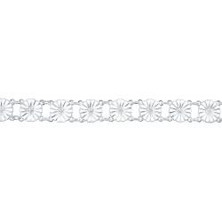 Marguerit armbånd i forgyldt sølv 13x11mm - 901011-H