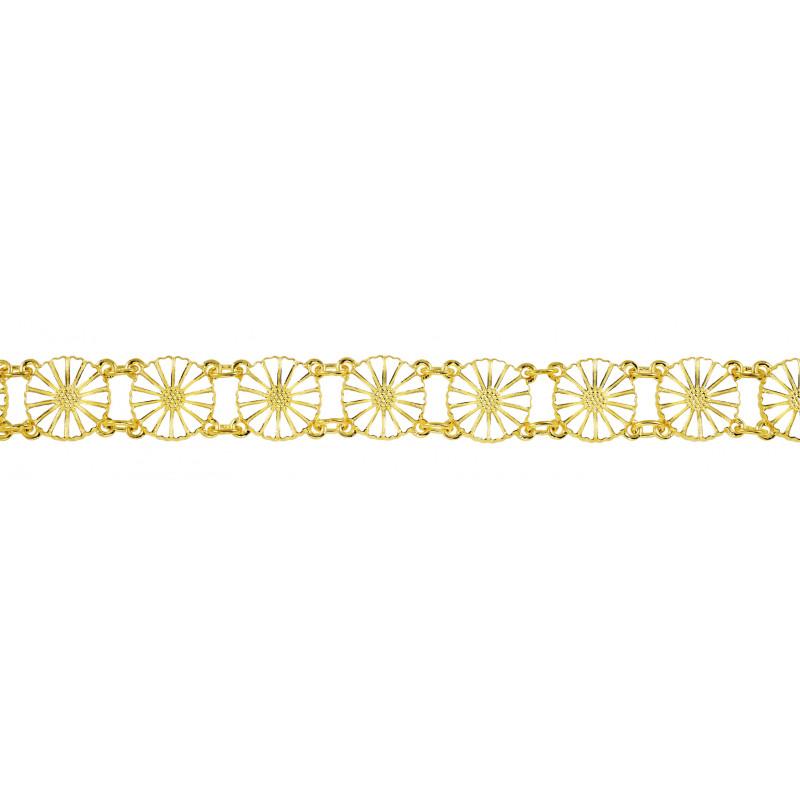 Marguerit armbånd i forgyldt sølv 13x11mm - 901011-M