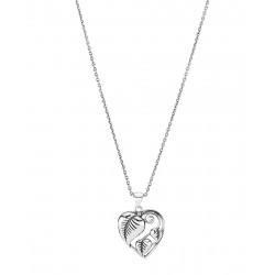 Halskæde med hjerte af blade - 9021017-OX