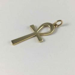 Livets nøgle - Ankh kors - guld vedhæng - 81178-2