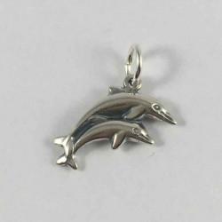Vedhæng - 2 delfiner -14233-2