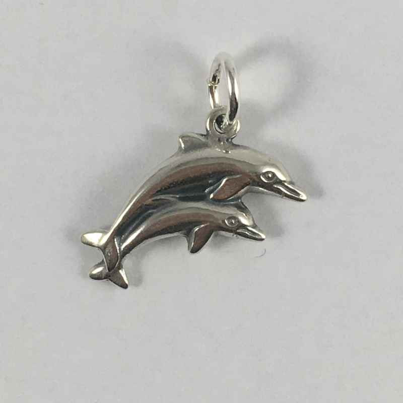 Vedhæng - 2 delfiner -14233-1
