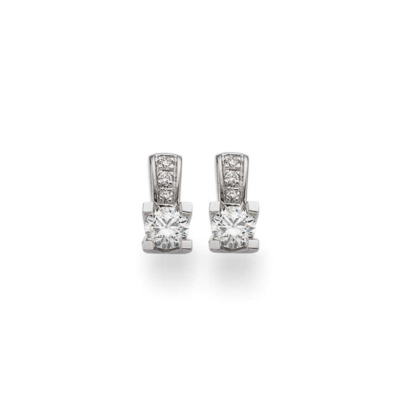 Kleopatra Queen ørering 14 kt. Hvidguld - 1536