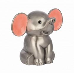 Fortinnet sparebøsse - elefant med lyserøde ører - 152-76202