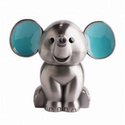 Fortinnet sparebøsse - elefant med blå ører - 152-76275