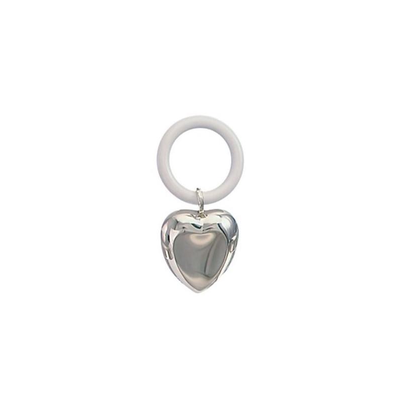 Rangle i sølvplet - Hjerte - 150-87760