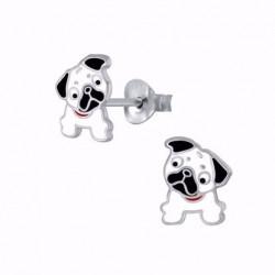 Sølv ørestikker med Hund - 11303
