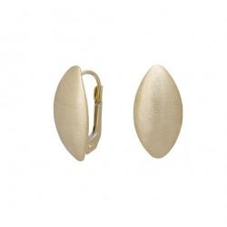 Guld ørebøjle i 8 kt. - mat - 383 120 3