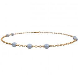 Armbånd SWEETS med blå Chalcedon - FG Sølv - 829 009-3