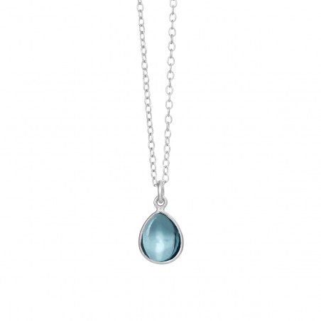 Halskæde med London blue krystal