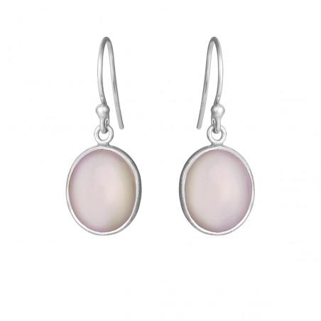 Ørehænger med lys pink krystal