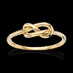 Ring 8 kt. rødguld - knude - 710573