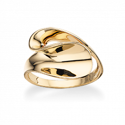 Ring 14 kt. rødguld - svunget - 710805