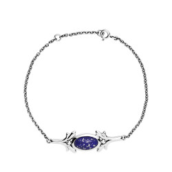 Armbånd i sølv med blå Lapis Lazuli - 9011033-13