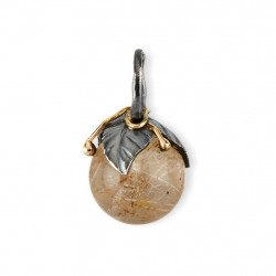 Vedhæng - Urban Leaf Drop Rutile Quartz 8mm  - 5090184A