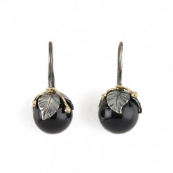 Øreringe - Urban Leaf Drop Black Onyx - 50801235G