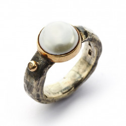 Ring - Antique Pearl & Diamond - 50110100P