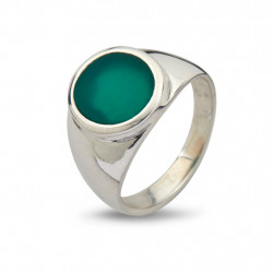 Ring - Oval Green Onyx - 50110189C