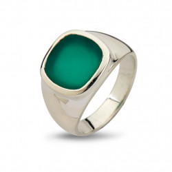 Ring - Cushion Green Onyx - 50110190C