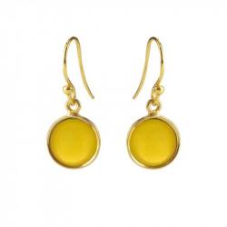 Ørehænger med gul opal krystal - 5521-2-202