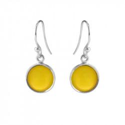 Ørehænger med gul opal krystal - 5521-1-202