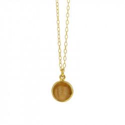 45cm Halskæde med gylden månesten - 1575-2-199