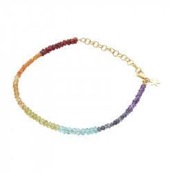 Armbånd med regnbuefarver af smukke sten - 1862-2-556