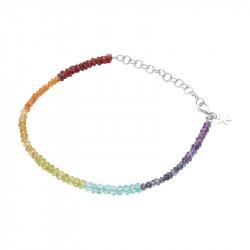 Armbånd med regnbuefarver af smukke sten - 1862-1-556