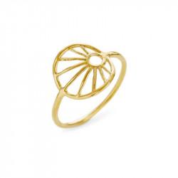Ring i forgyldt sølv med 12mm trådmønster - 1695-2