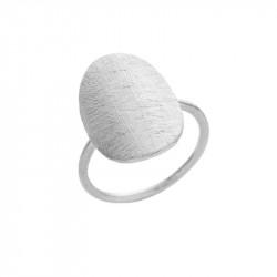 Ring i sølv med mat oval 13x18mm - 1697-1
