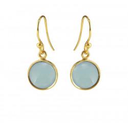 Ørehænger med lys blå krystal - 5521-2-111