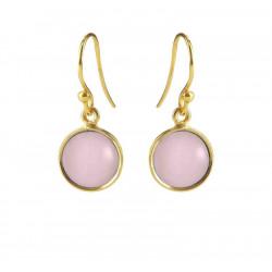 Ørehænger med lys pink krystal - 5521-2-112