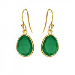 Ørehænger med grøn agate - 5568-2-102