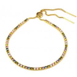 Tennisarmbånd med pastelfarvede sten - 3718