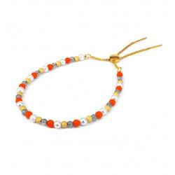 Armbånd med farvede sten - 3698